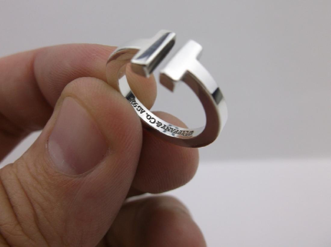 Genuine Tiffany & Co Sterling Silver Ring 5 - 6