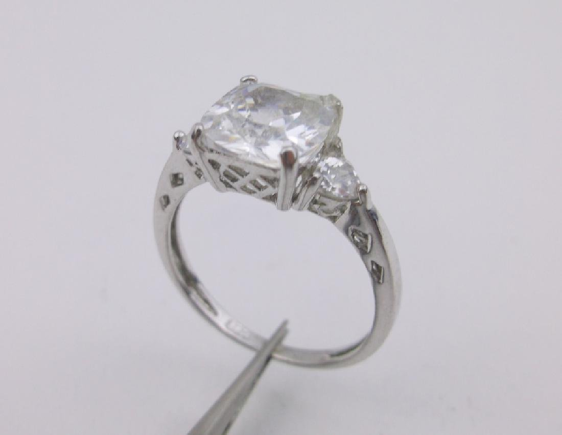 Gorgeous Sterling Silver Engagement Ring 6.5