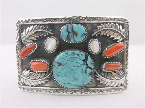 33372517cd0 placeholder Navajo Pawn Michael Perry Sterling Turquoise Belt ...