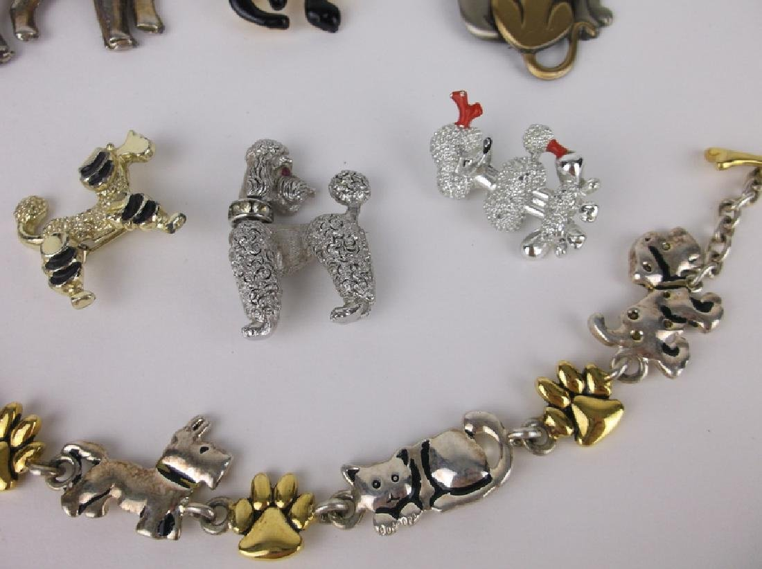 Vintage Dogs & Cats Brooch Jewelry Lot - 2