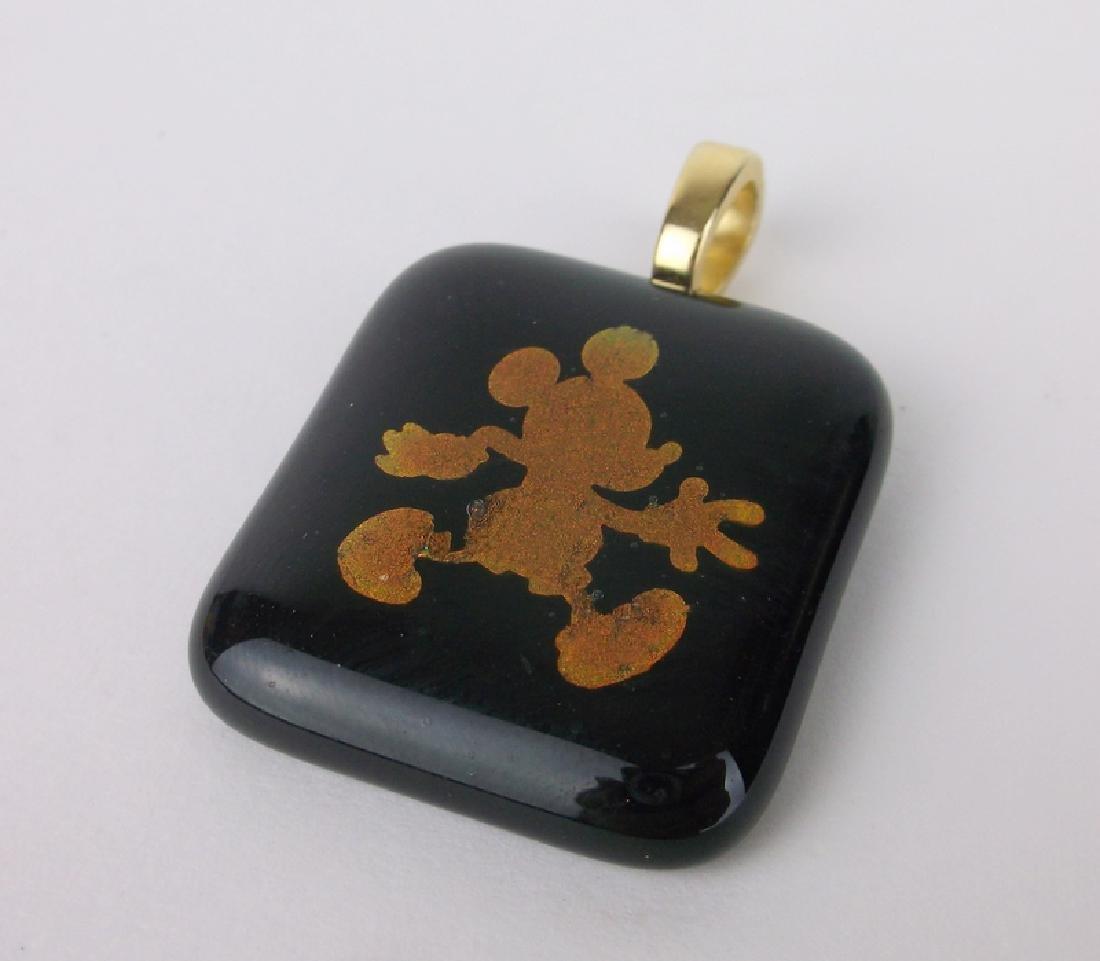 Stunning Mickey Mouse Art Glass Pendant