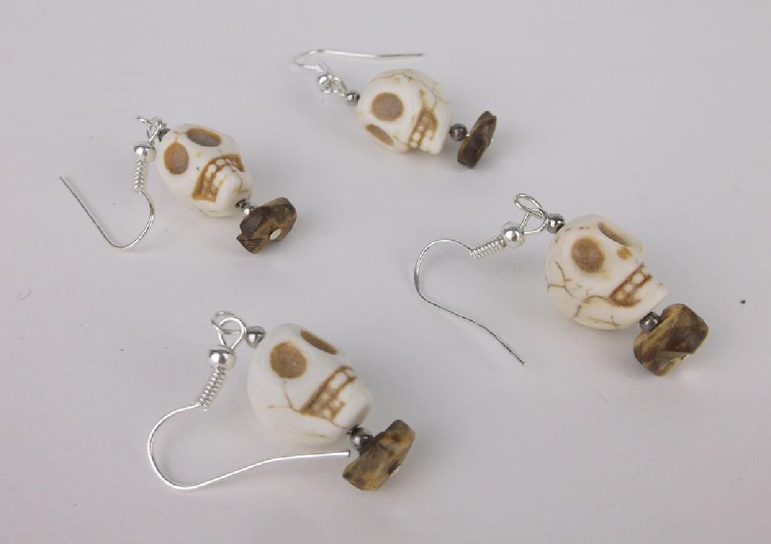 2 Gorgeous Sets of Skull Earrings