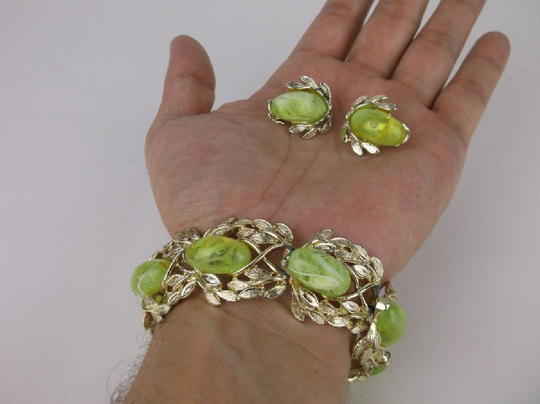 Stunning Vintage Bracelet Earrings Set - 2