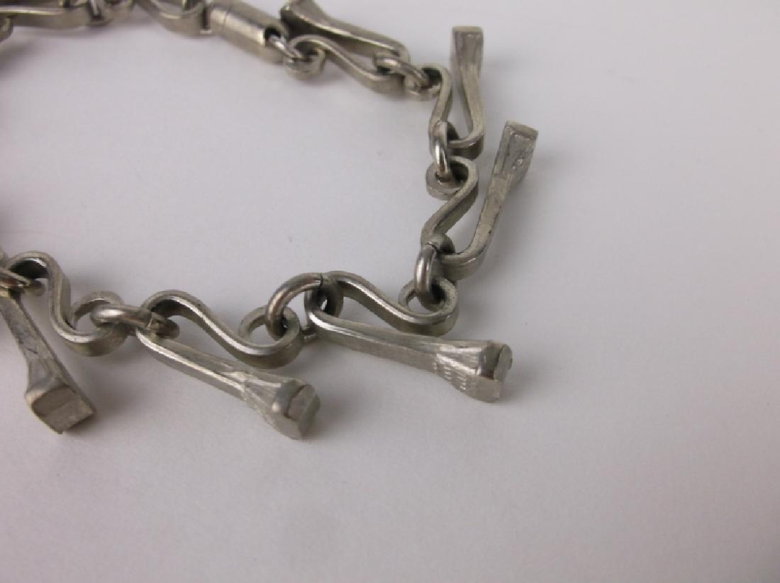 Gorgeous Vintage Square Head Nail Bracelet Unusual - 2