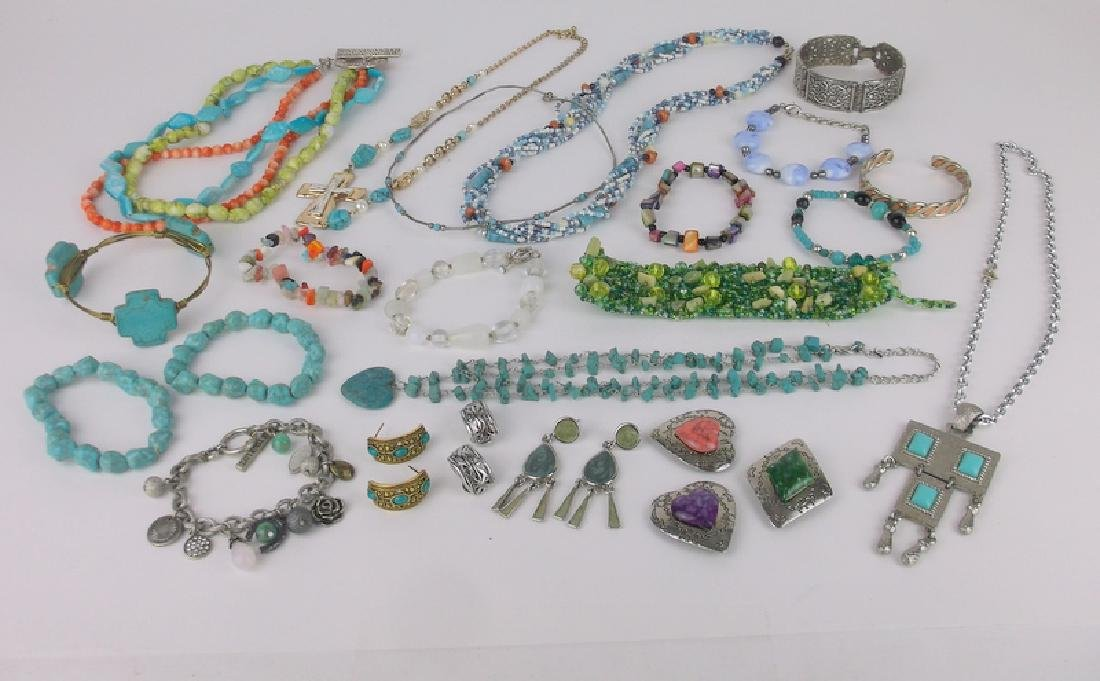 Gorgeous Southwestern Jewelry Lot Turquoise & More