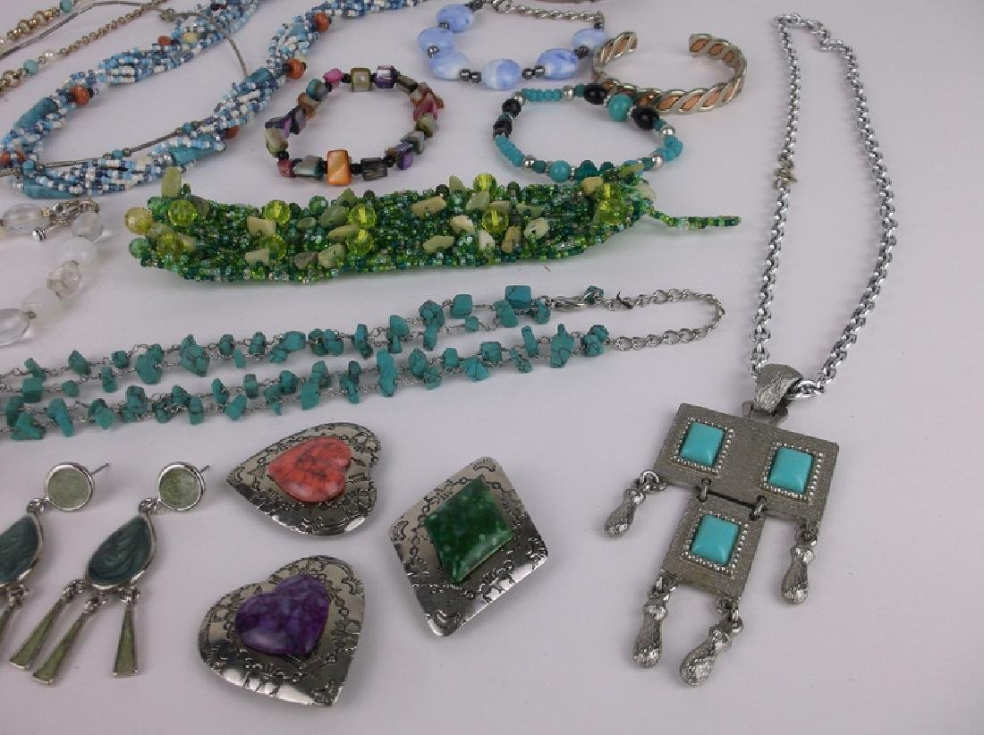 Gorgeous Southwestern Jewelry Lot Turquoise & More - 2