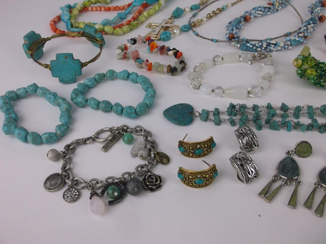 Gorgeous Southwestern Jewelry Lot Turquoise & More - 3