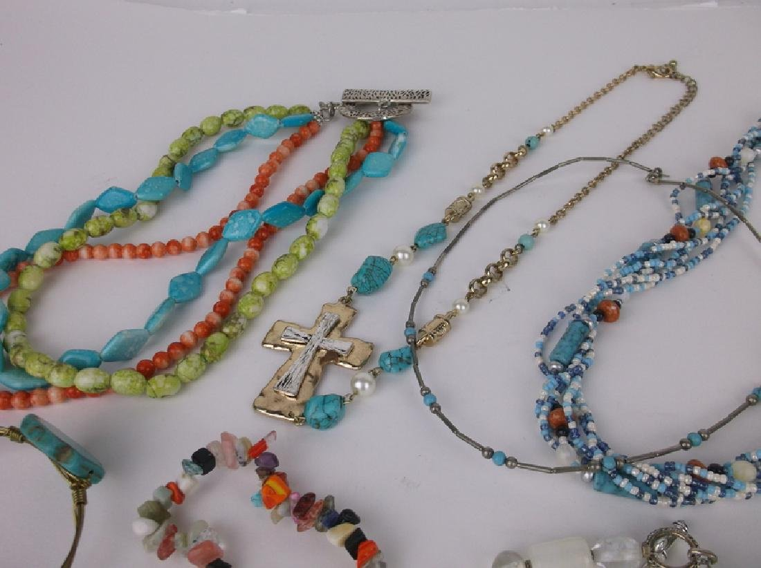 Gorgeous Southwestern Jewelry Lot Turquoise & More - 4
