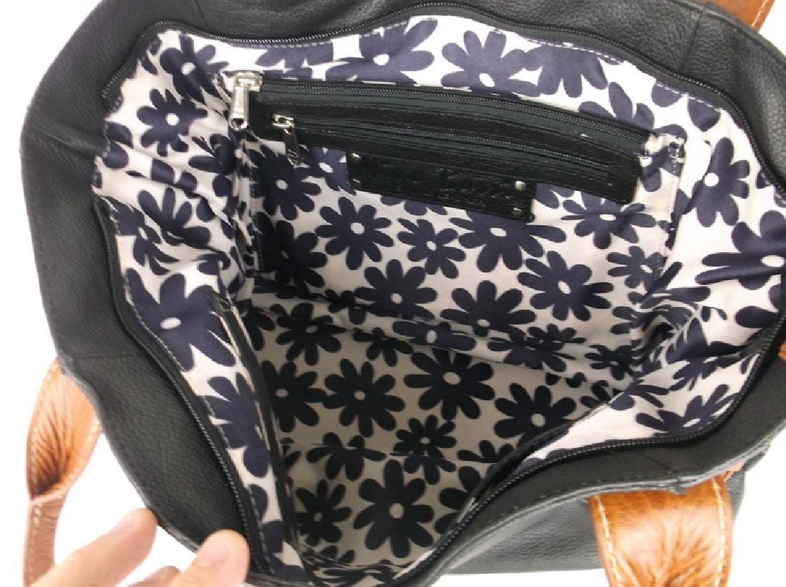 Like New Nino Bossi Leather Handbag Purse - 5