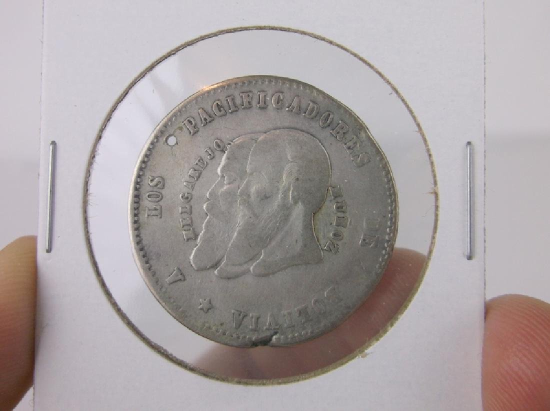 1865 Silver Bolivian Coin