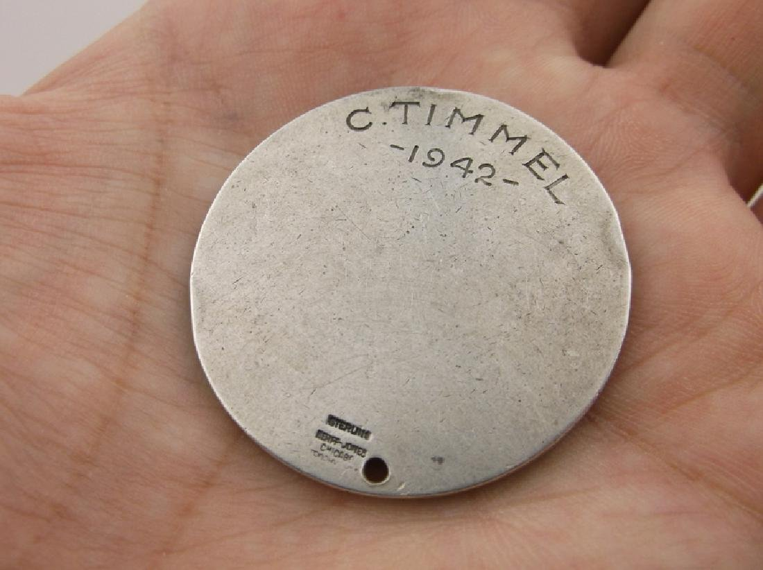 Rare 1942 Allied Mills Sterling Silver Coin Pres Club - 2