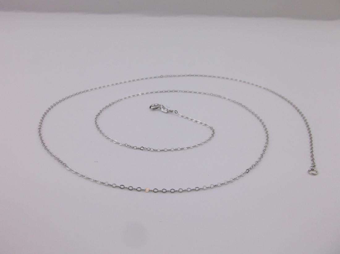 """New Sterling Silver Chain Necklace 24"""""""