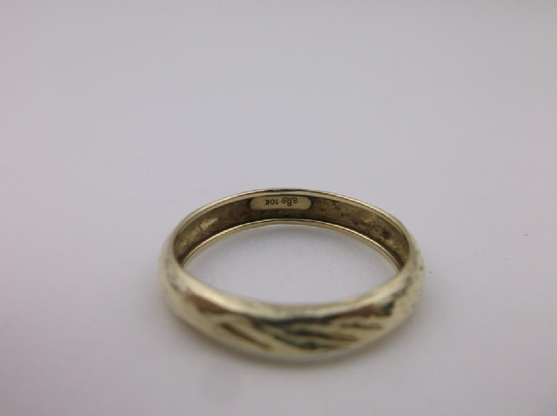 Gorgeous 10kt Gold Band Ring 8 BBB - 2