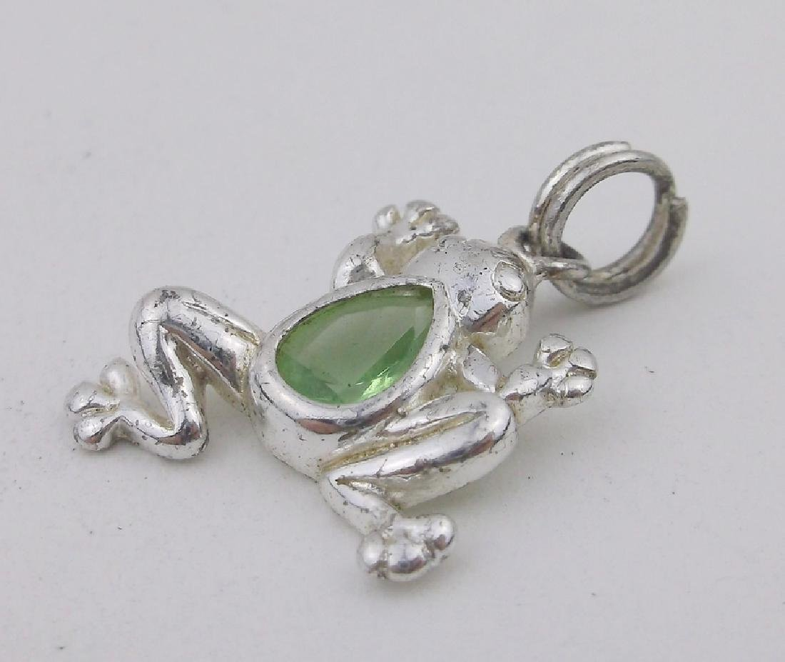 Gorgeous Sterling Tree Frog Pendant Charm