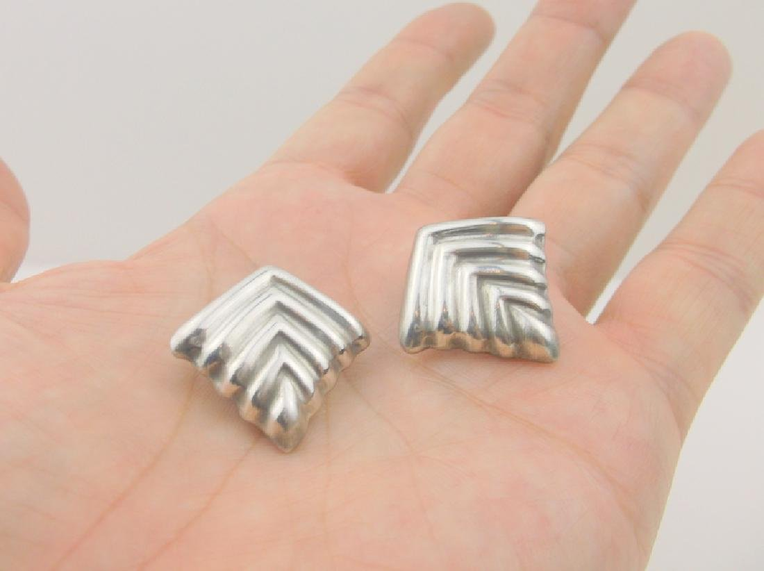 Gorgeous Heavy Sterling Silver Taxco Earrings