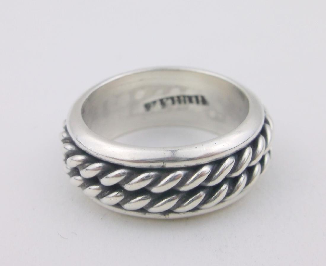 Stunning Heavy Sterling Spinning Ring 6