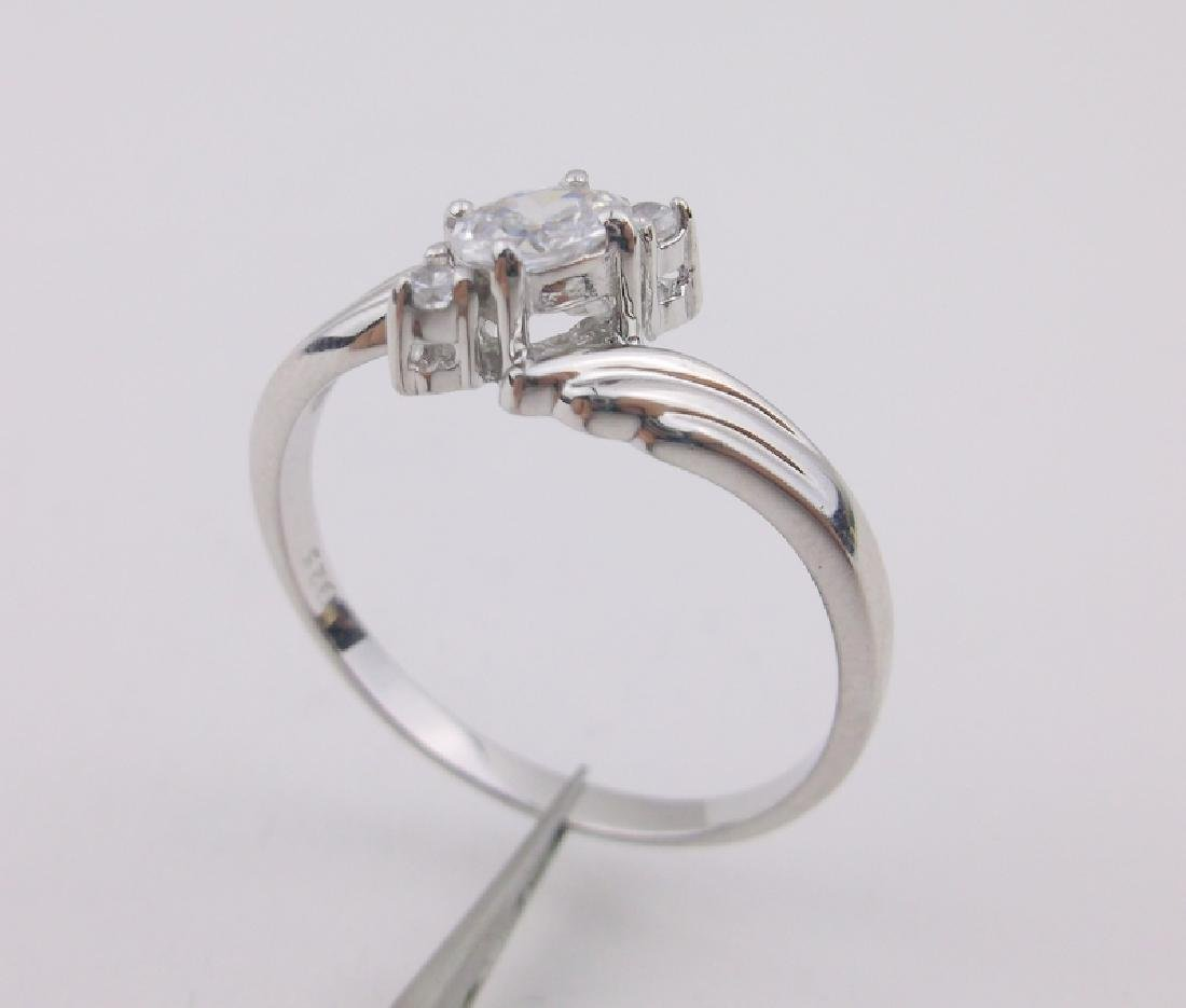 Stunning Sterling Silver Engagement Ring 12.5