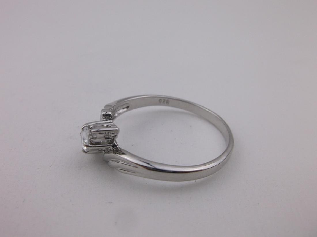 Stunning Sterling Silver Engagement Ring 12.5 - 2