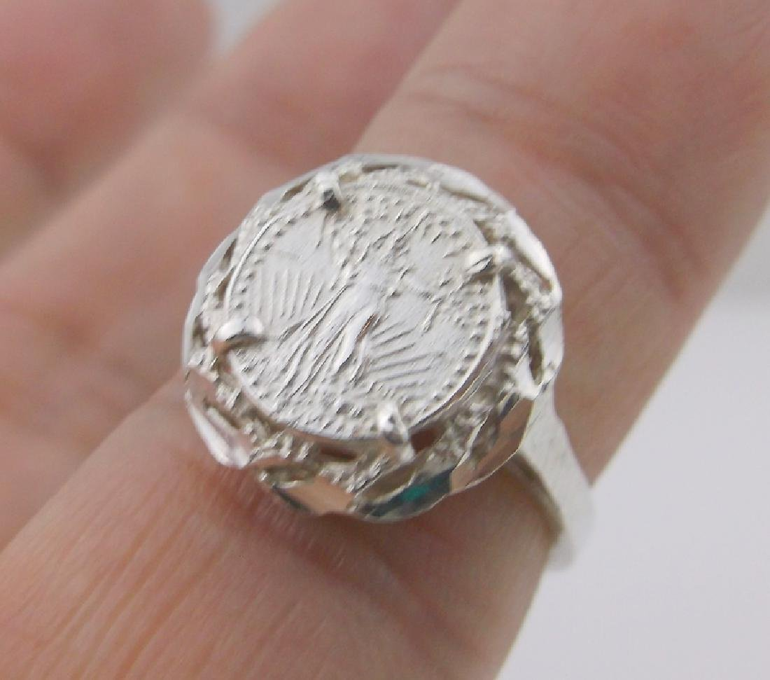 Stunning Sterling Silver Coin Ring 5