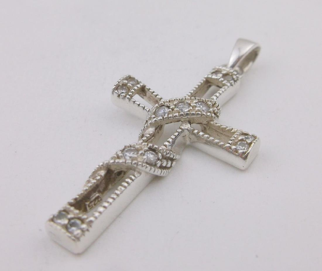 Gorgeous Thick Sterling Silver Cross Pendant