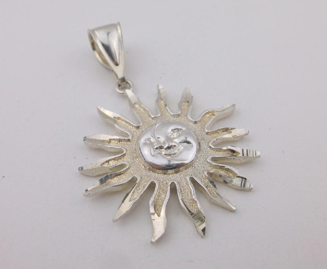 Stunning Sterling 1 of a Kind Moon Sun Pendant