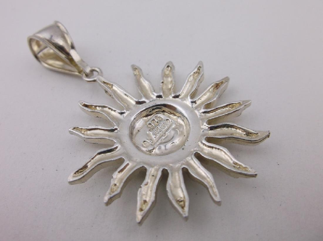 Stunning Sterling 1 of a Kind Moon Sun Pendant - 2