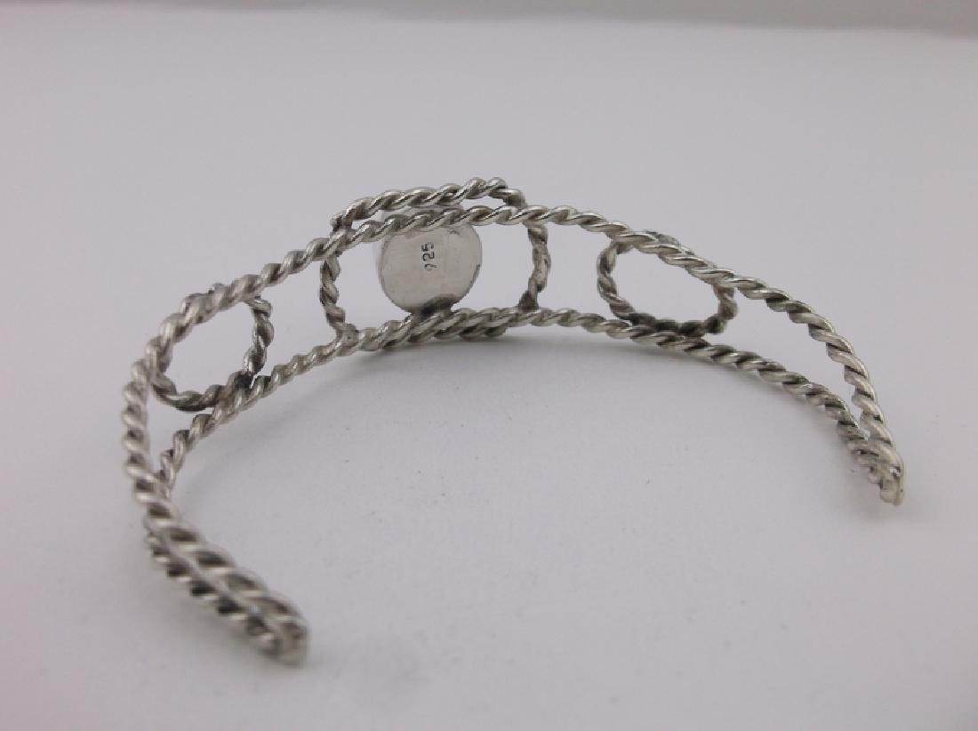 Stunning Sterling Silver Amethyst Cuff Bracelet - 2