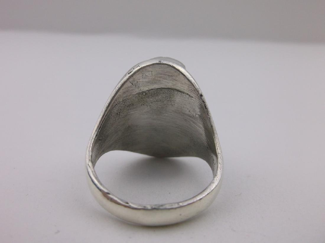 Stunning Mens Sterling Navajo Turquoise Ring 11 - 3