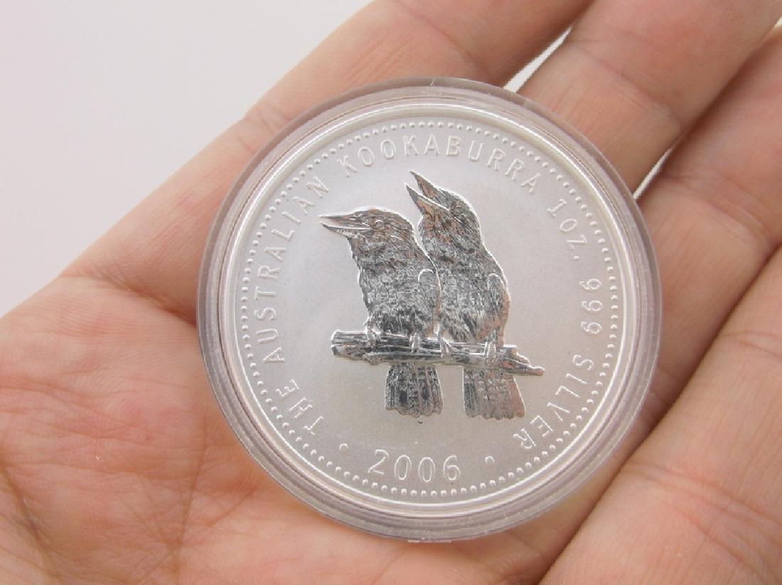 2006 Australian 1oz .999 Fine Silver Coin Kookaburra