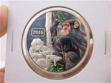 2016 Australian 1oz 999 Fine Silver Coin Monkey