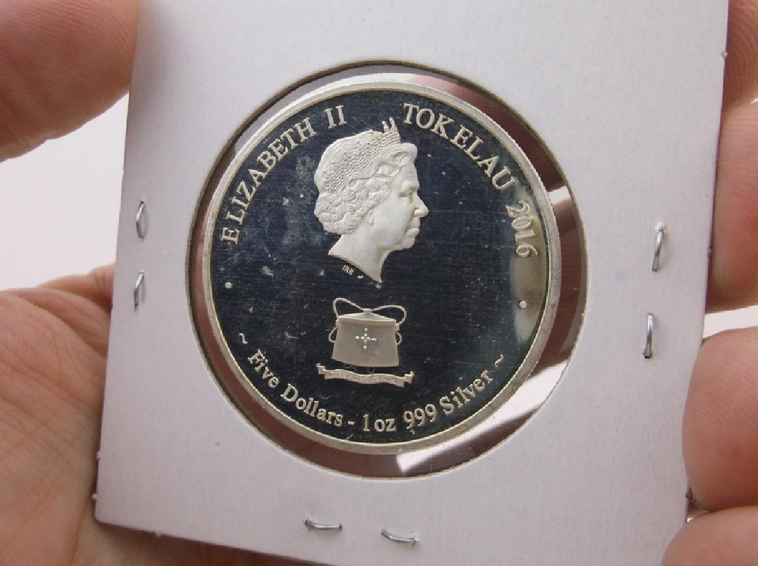 2016 Australian 1oz .999 Fine Silver Coin Monkey - 2
