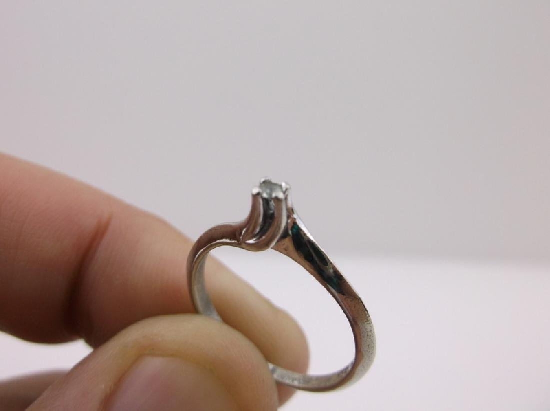 Sterling Diamond Solitaire Engagement Ring 6 Stunning - 2