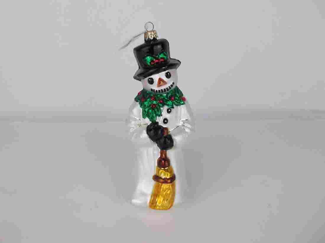New Radko Snowman Christmas Ornament Hand Blown