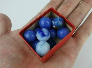 Antique Akro Agate Marbles Blues
