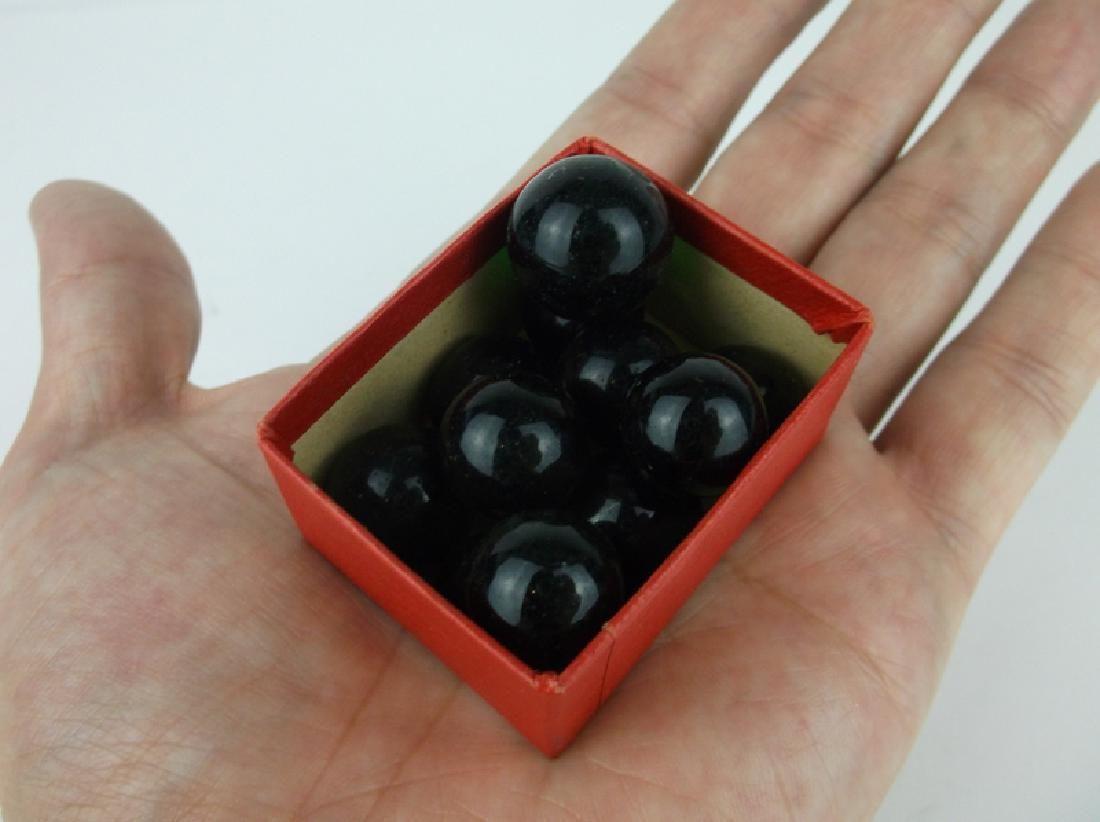 Antique Akro Agate Marbles Black
