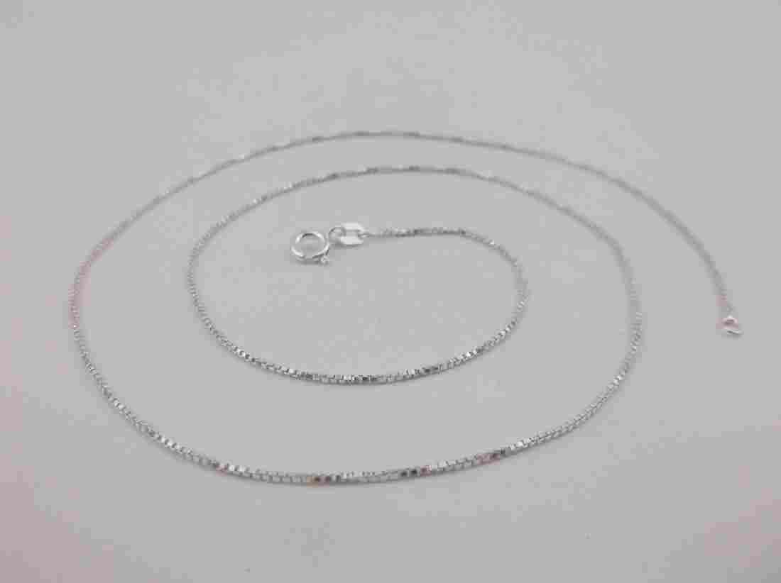 """New 18"""" Sterling Silver Box Chain Necklace"""