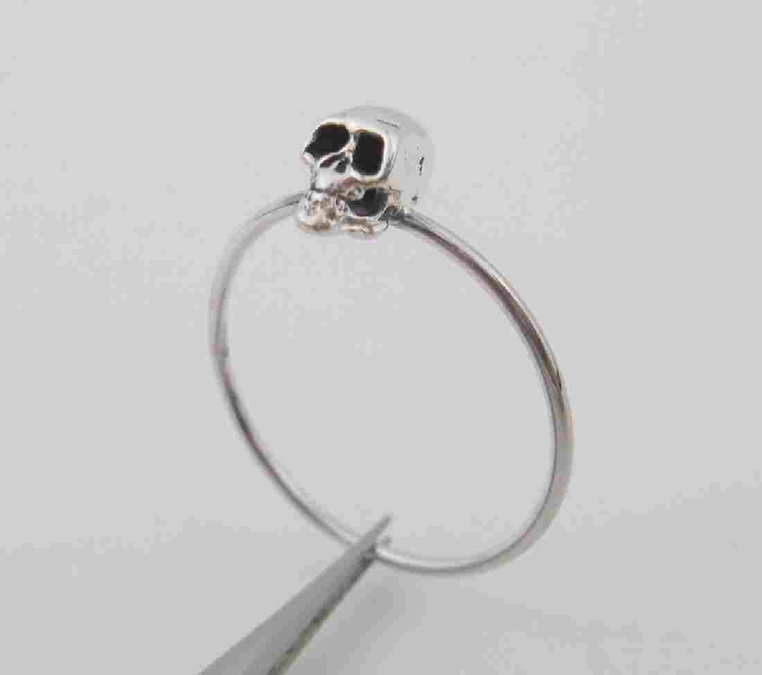 Stunning Sterling Silver Skull Skeleton Ring 8