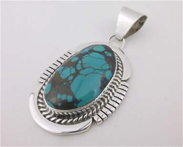 Huge Jon McCray Navajo Sterling Turquoise Pendant
