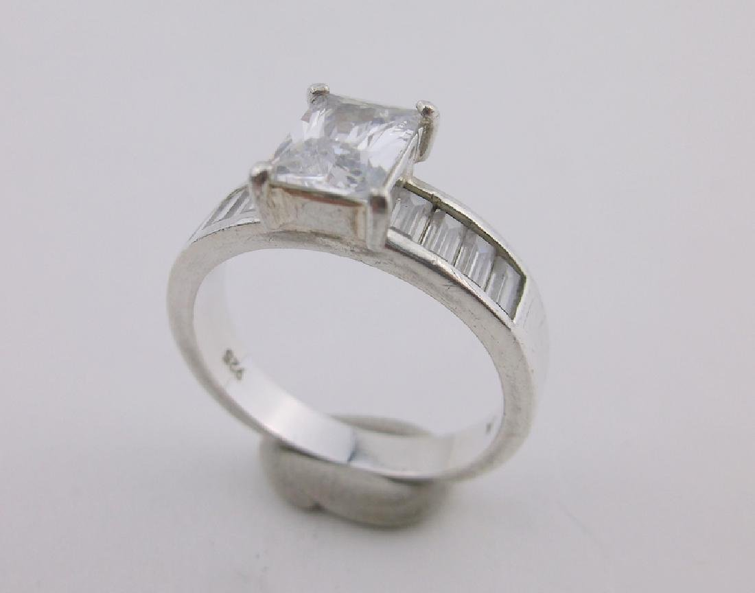 Gorgeous Sterling Silver Engagement Ring 8.5