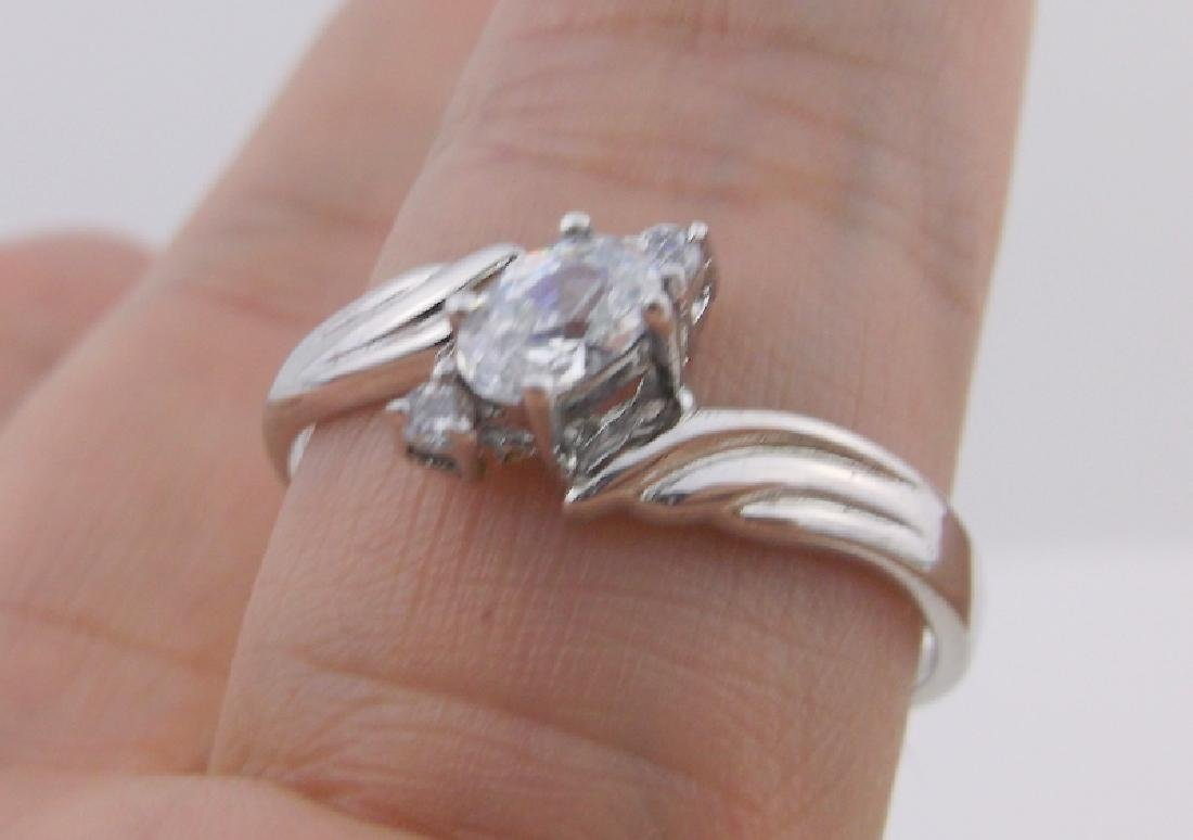 Stunning Sterling Silver Engagement Ring 12