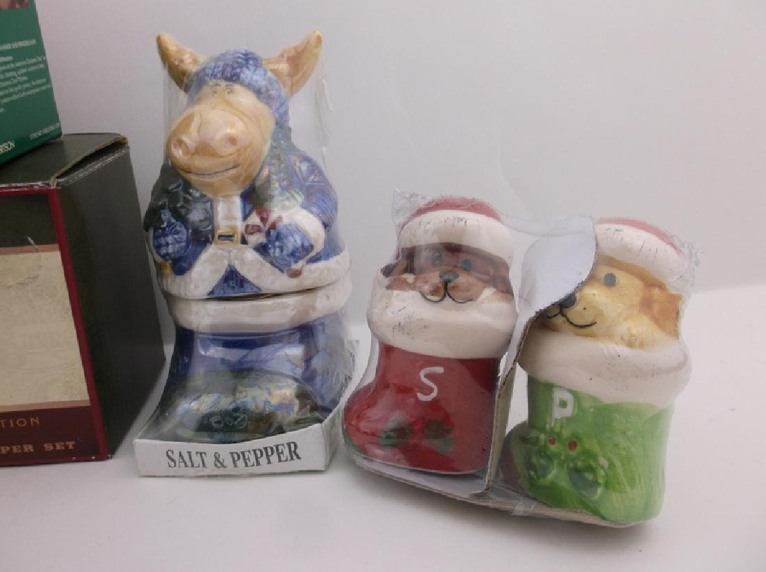 6 New In Box Christmas Salt & Pepper Sets - 2