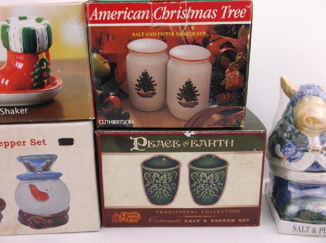 6 New In Box Christmas Salt & Pepper Sets - 3