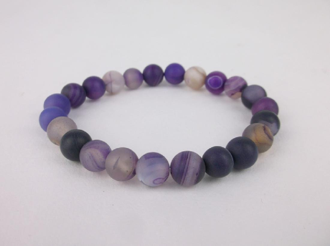 New Healing Purple Crystal Geode Bracelet