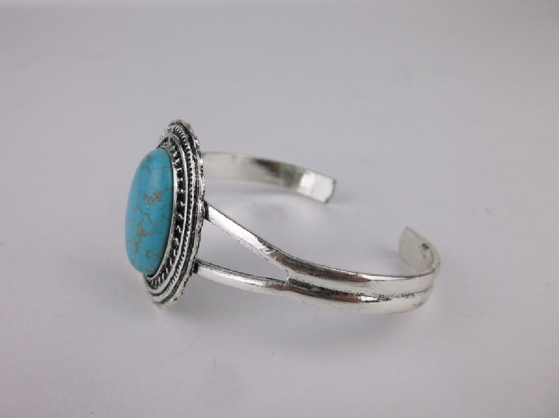 Stunning Southwestern Turquoise Cuff Bracelet - 2