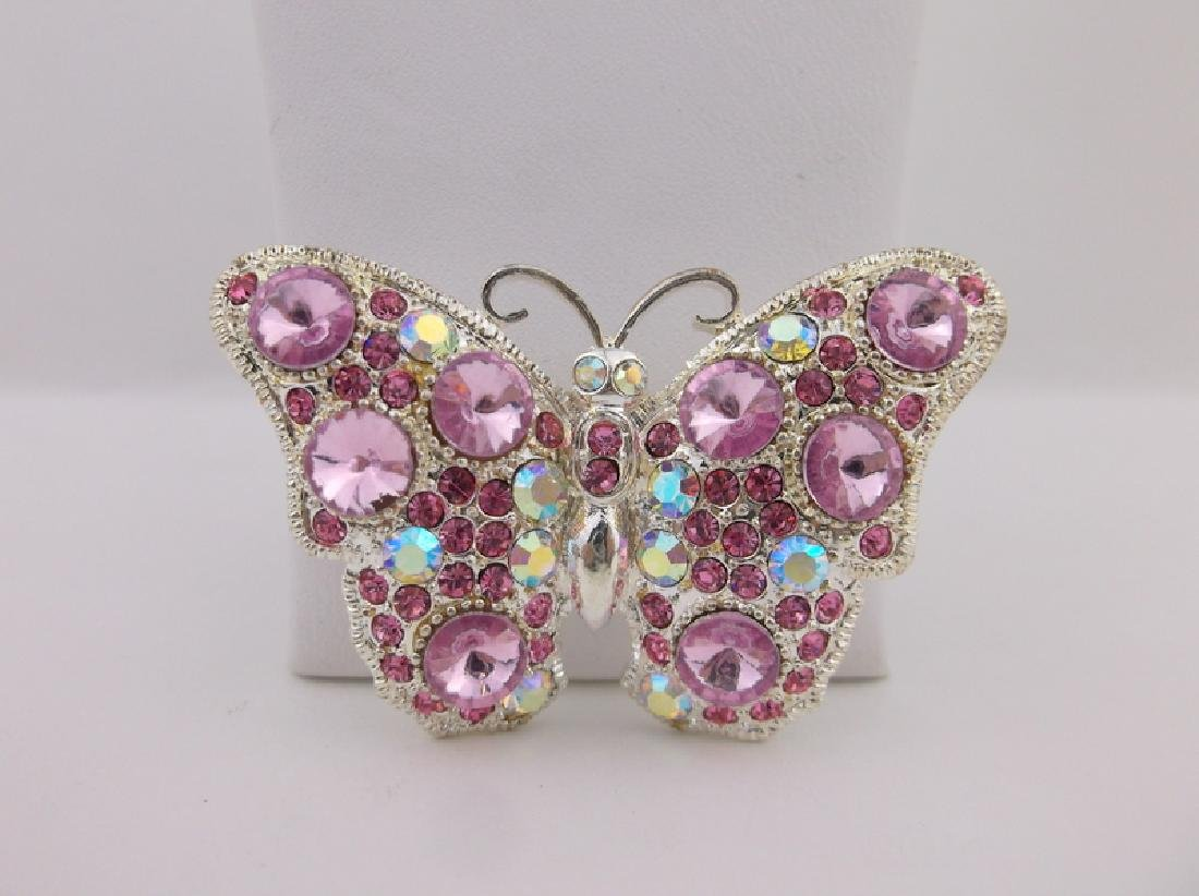 Stunning Rhinestone Butterfly Brooch Pendant