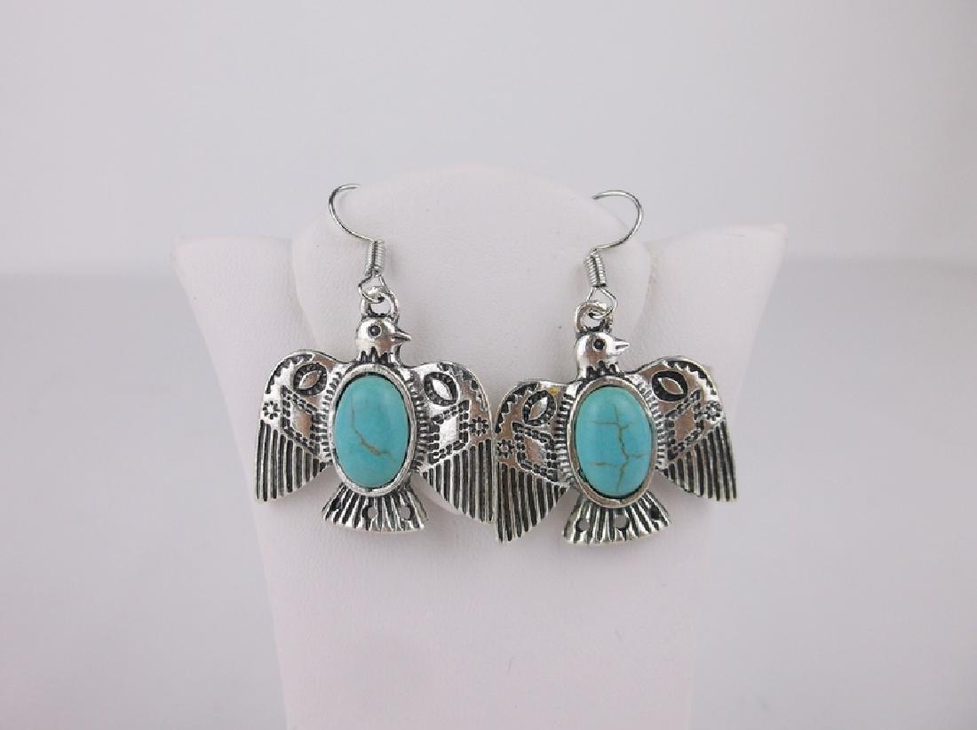 Stunning Southwestern Turquoise Earrings Bird
