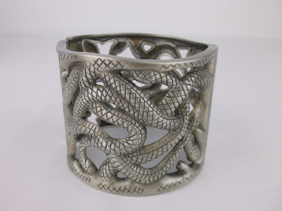 Stunning Huge Twisted Snakes Bracelet