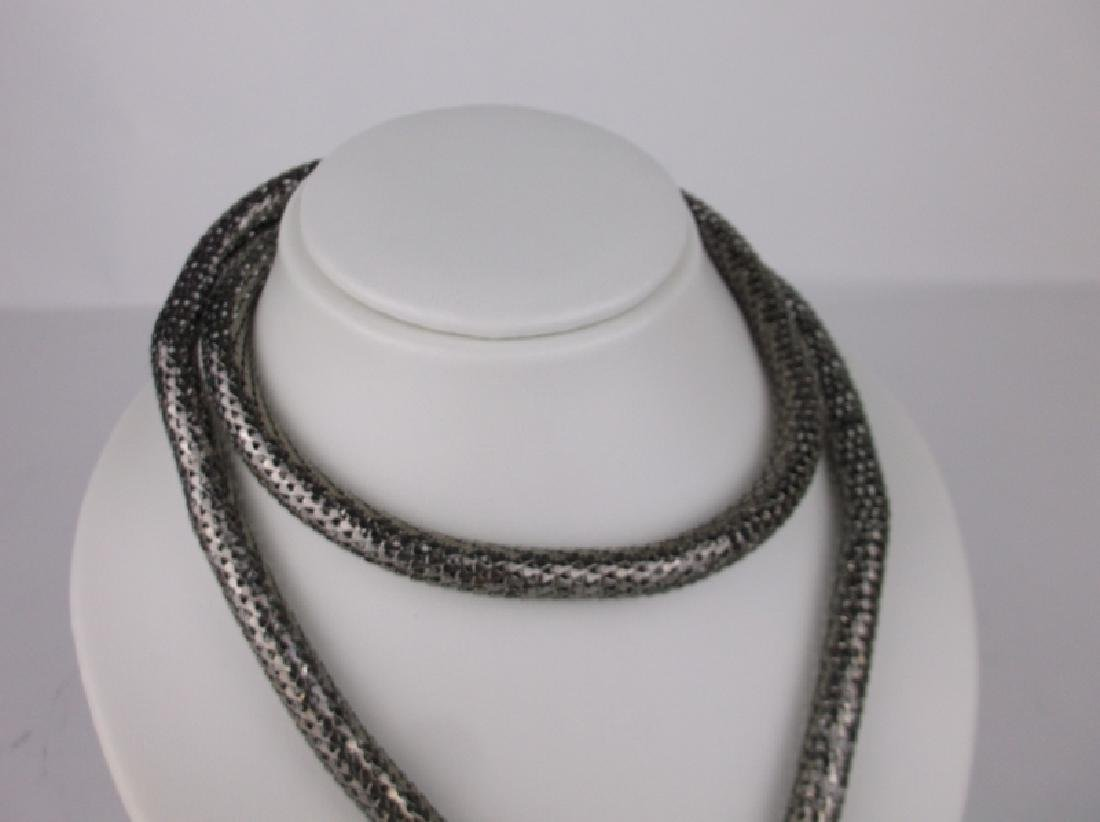 Stunning Huge Rhinestone Snake Wrap Necklace - 3