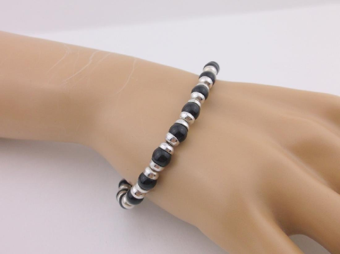 Gorgeous Heavy Sterling Silver Toggle Bracelet