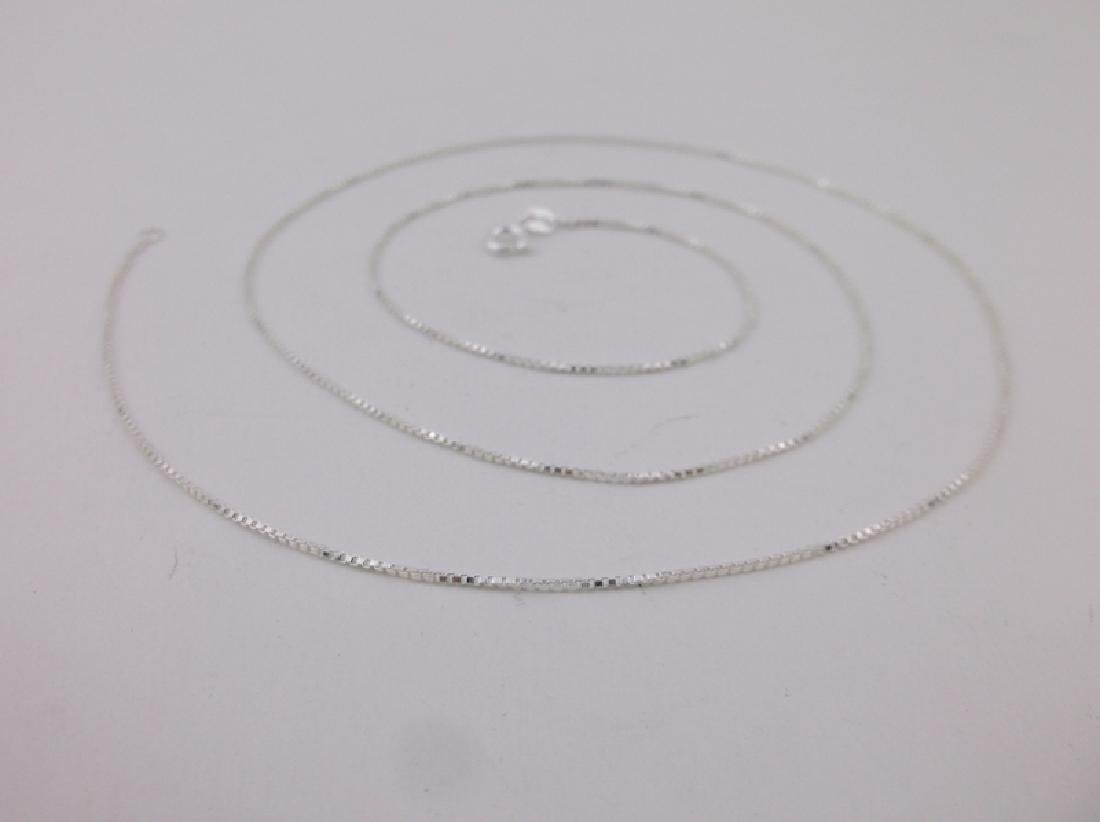 New Sterling Silver Box Chain Necklace 24""